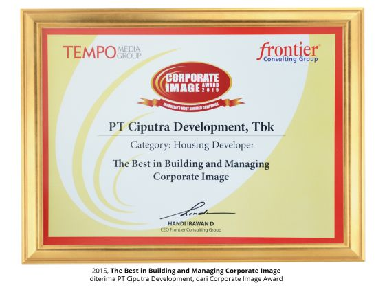 Corporate Image Award 2015